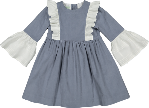 Grey velvet dress/Vestido veludo cotele cinzento