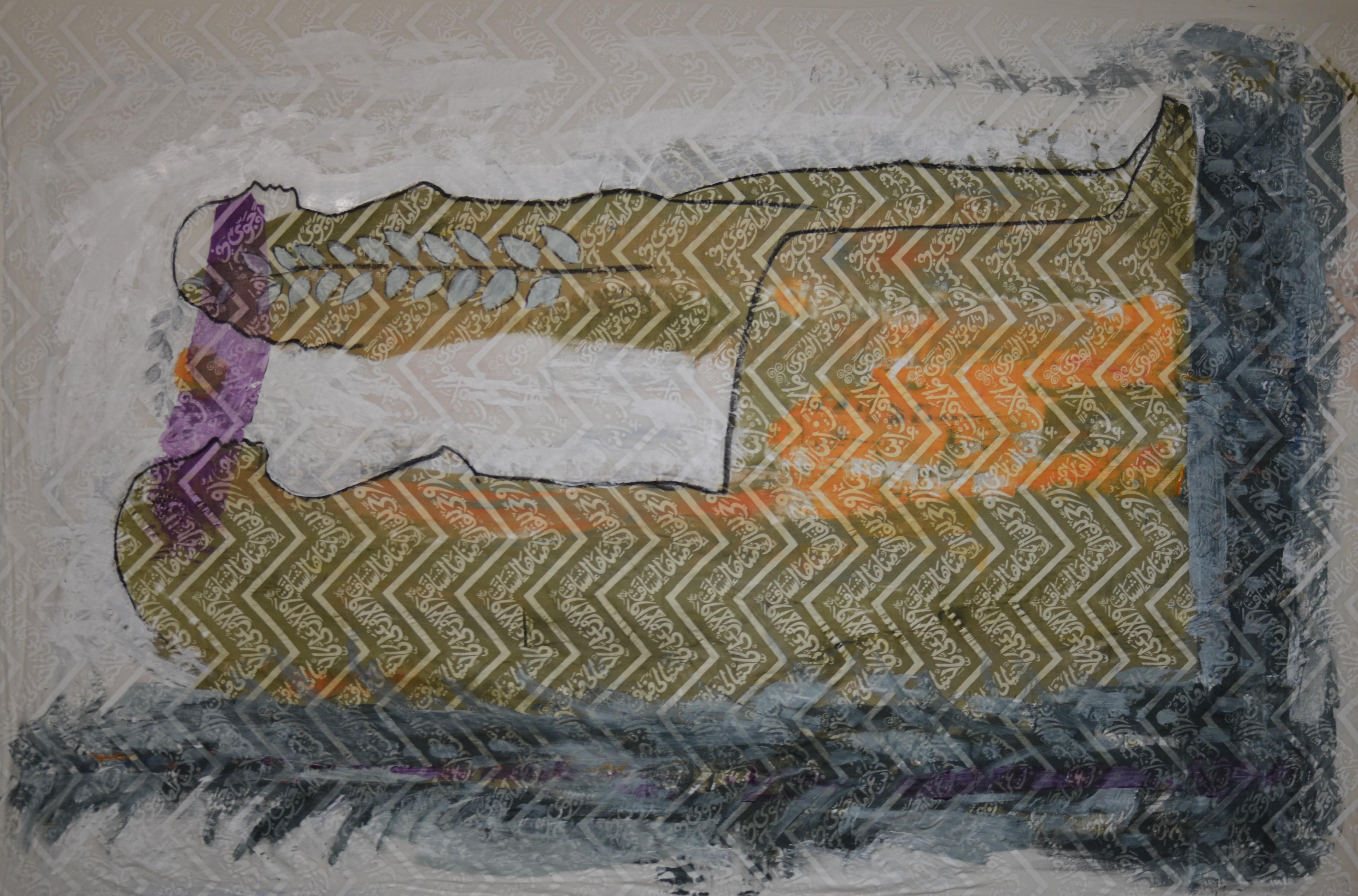 90x57 acrylic, tempra and Silk screen on