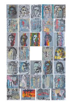 People around me 34 paintings each 14x17