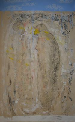 90x57 acrylic and tempra on canvas