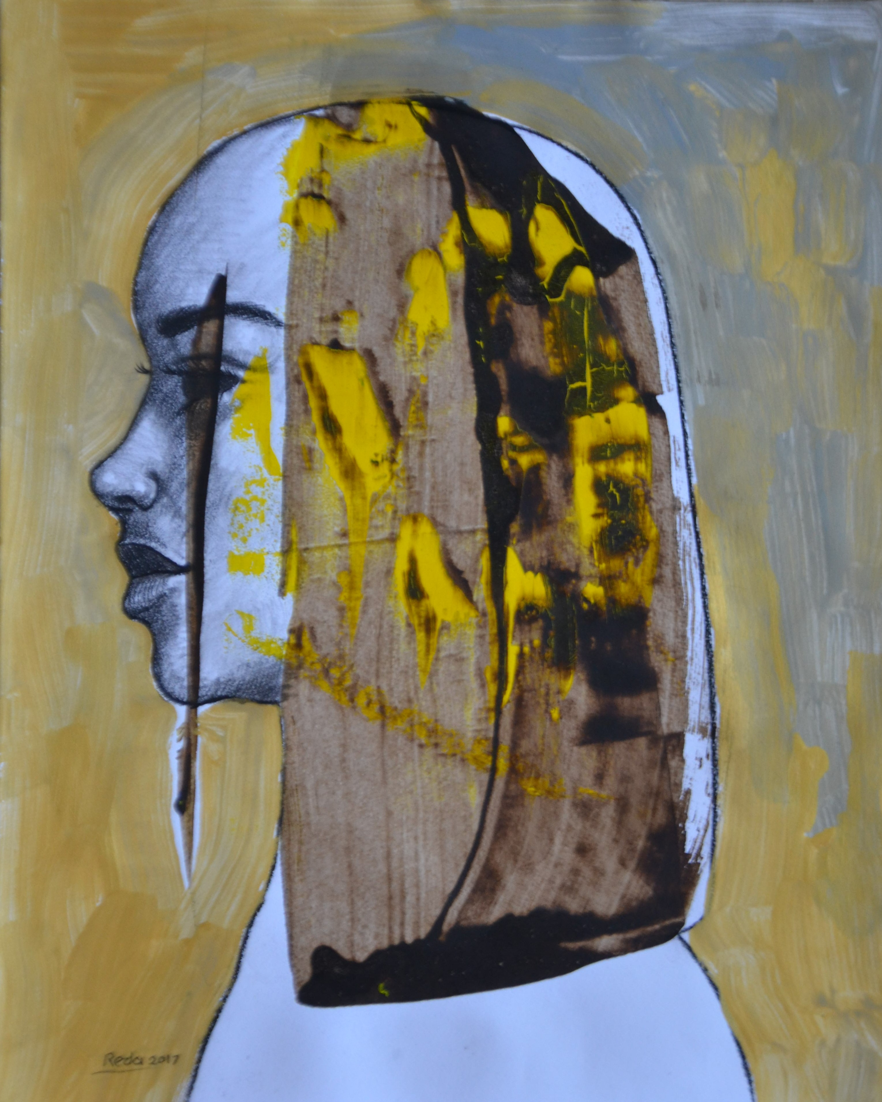 2 From my Memory acrylic, tempera and gold leaf on paper, 24 pieces 17 x 14 Inch each, 2017