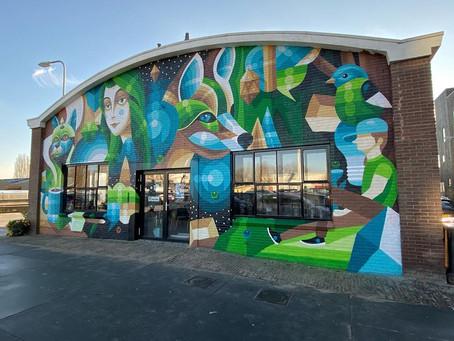 Mural I AM EELCO op PUNT in Havenkwartier
