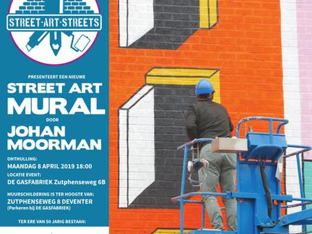 Onthulling 8 april mural Johan Moorman