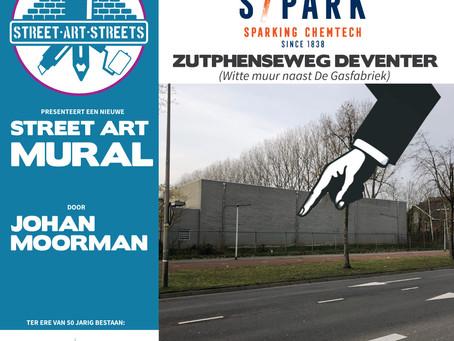 Locatie nieuwe Mural Johan Moorman