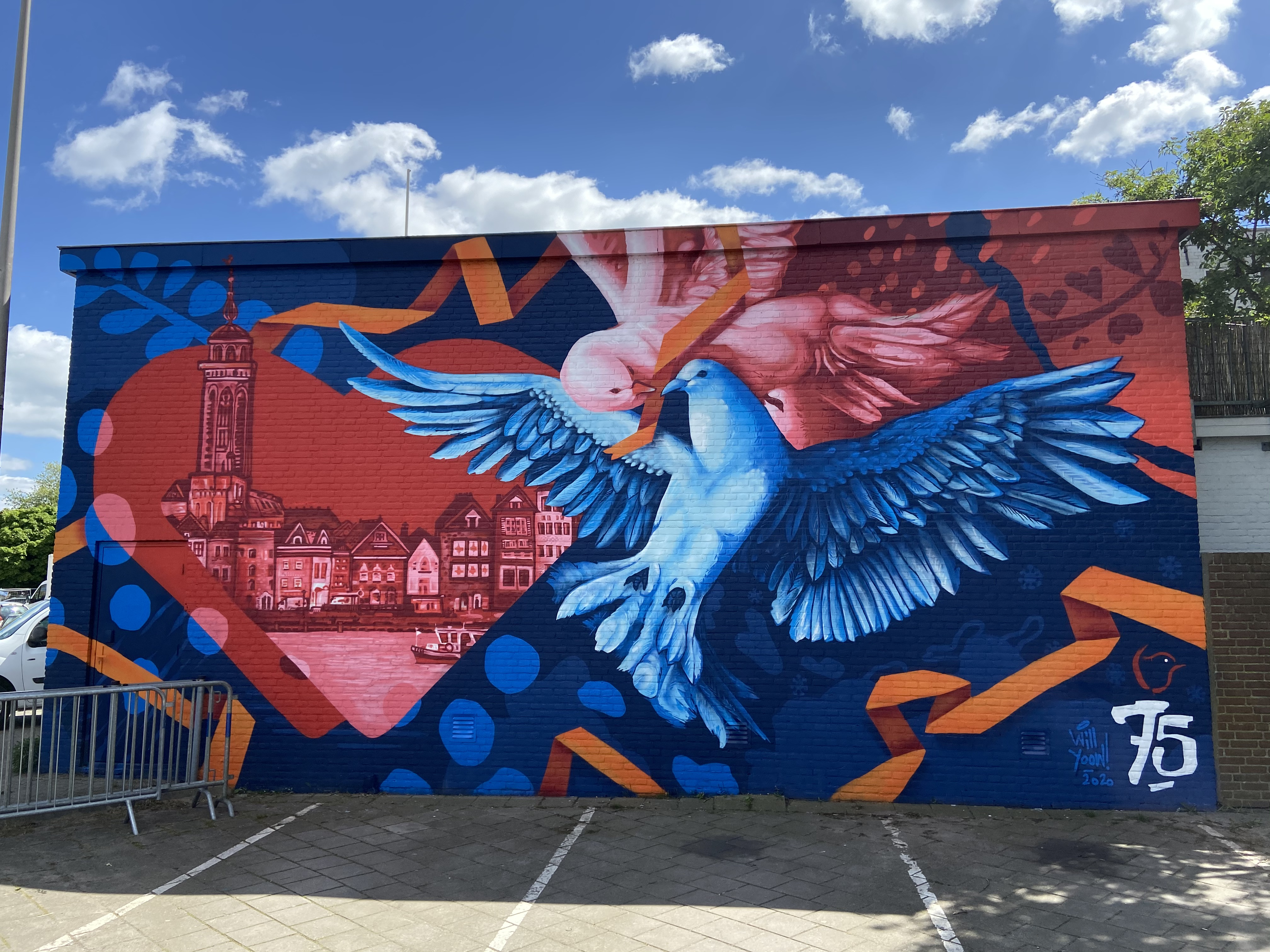 1 Mural 75jaar vrij voor
