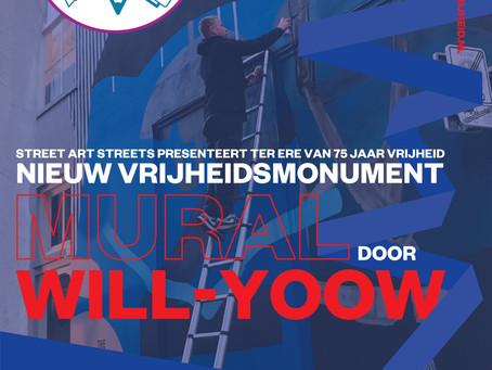 Speciale muurschildering voor 75 jaar Vrijheid in Deventer