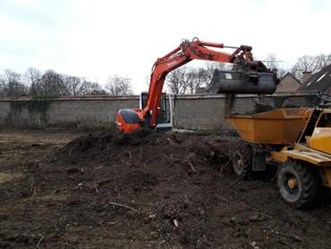 Aménagement de jardins - terrassement