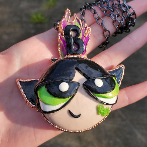 Custom Powerpuff Pendant
