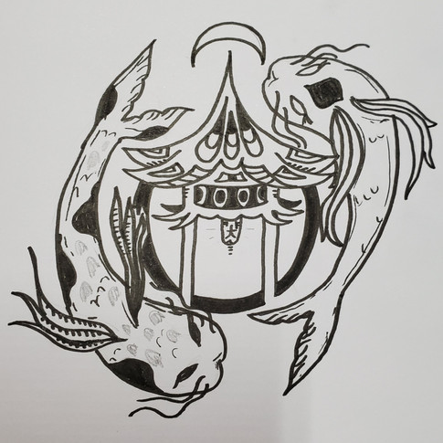 """The Dojo"" Hand Drawn Logo"