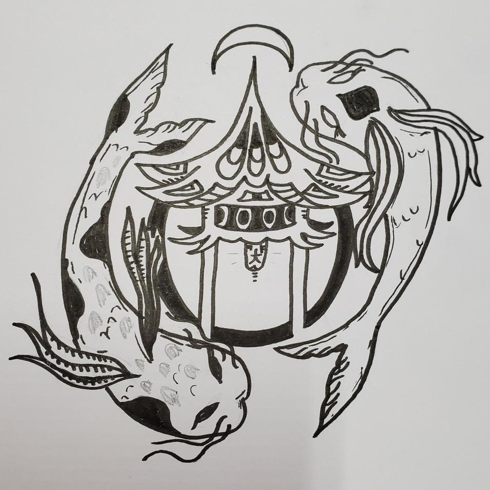 """The Dojo"" Hand Drawn Logo"