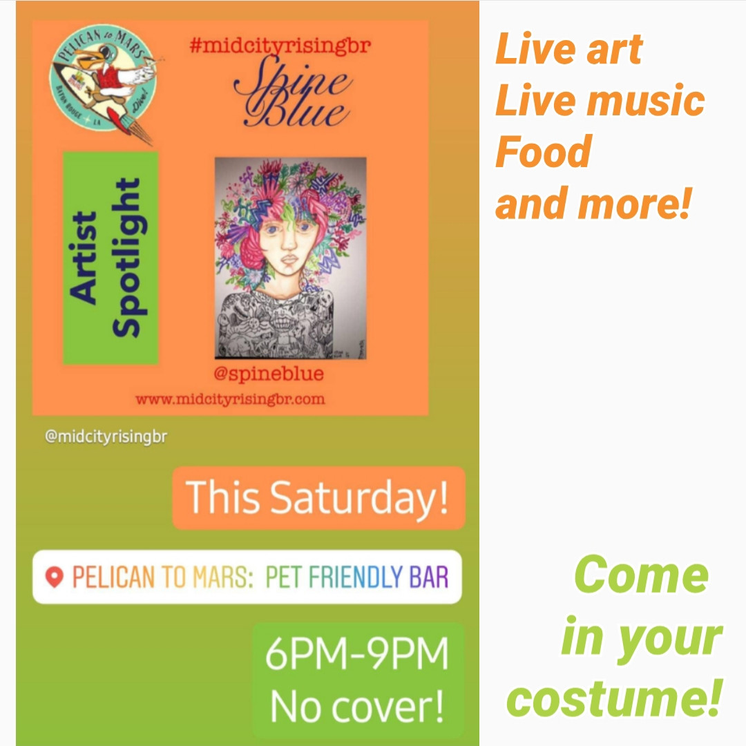 Flyer for Mid City Rising's Halloween Party