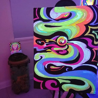 Black Light Painting