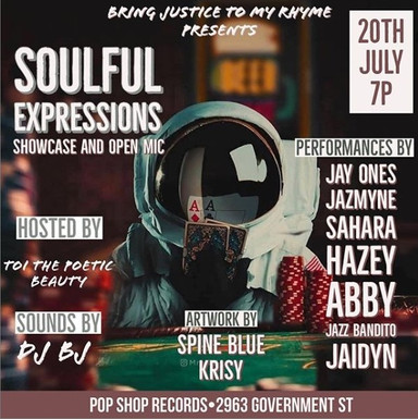 "Flyer for ""Soulful Expressions"""