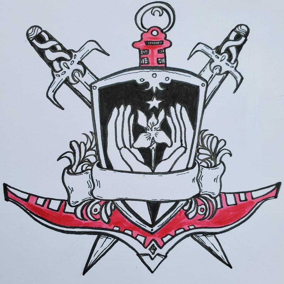 """Tribe of Iris"" Hand Drawn Logo"
