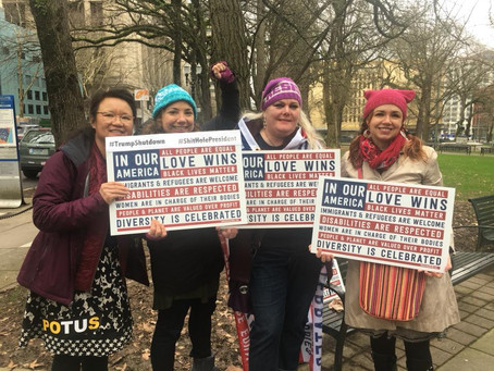 Nasty Women at the March for Impeachment