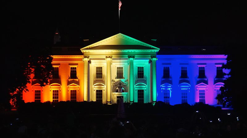 The White House in glorious rainbow colors the day marriage equality passed
