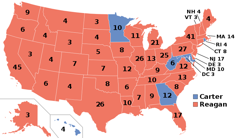 1980 Presidential Election Results, Wikimedia Commons.