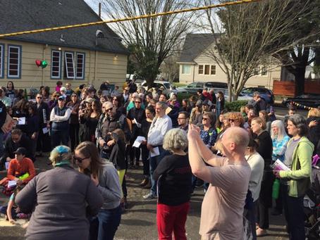 Love Overshadows Hate in SE Portland