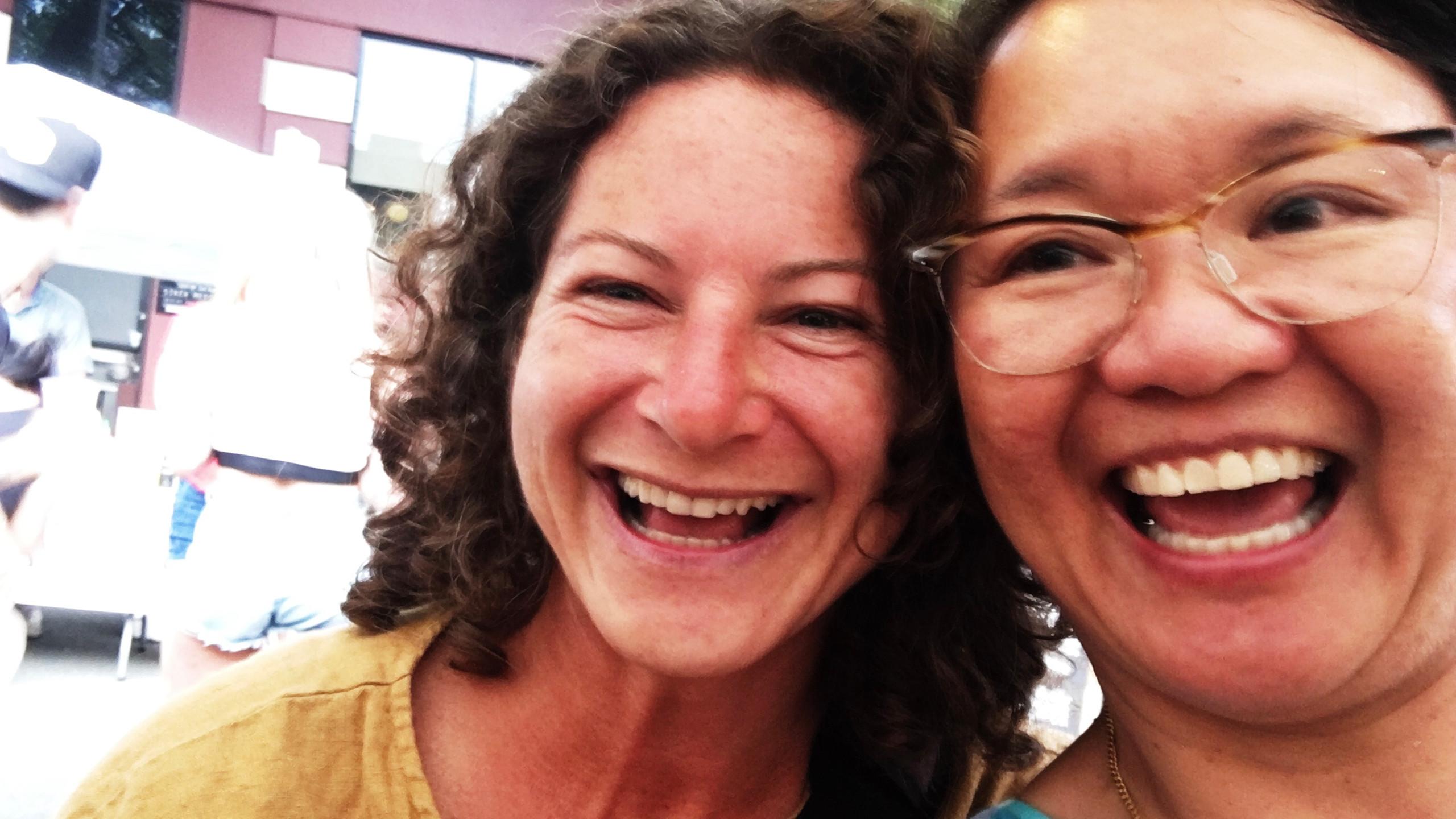My friend, Nadine, who really encouraged my soapmaking years ago!