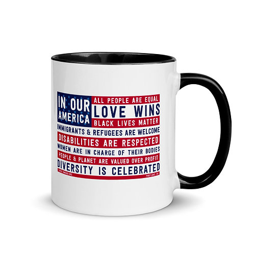 In Our America Flag Mug with Color Inside
