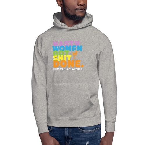 Nasty Women Got Shit Done Rainbow Unisex Hoodie