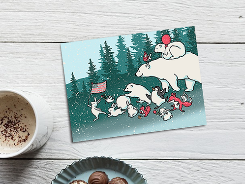 Forest Animals Holiday Cards