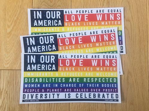 Bumper Stickers (English/Rainbow/Spanish)