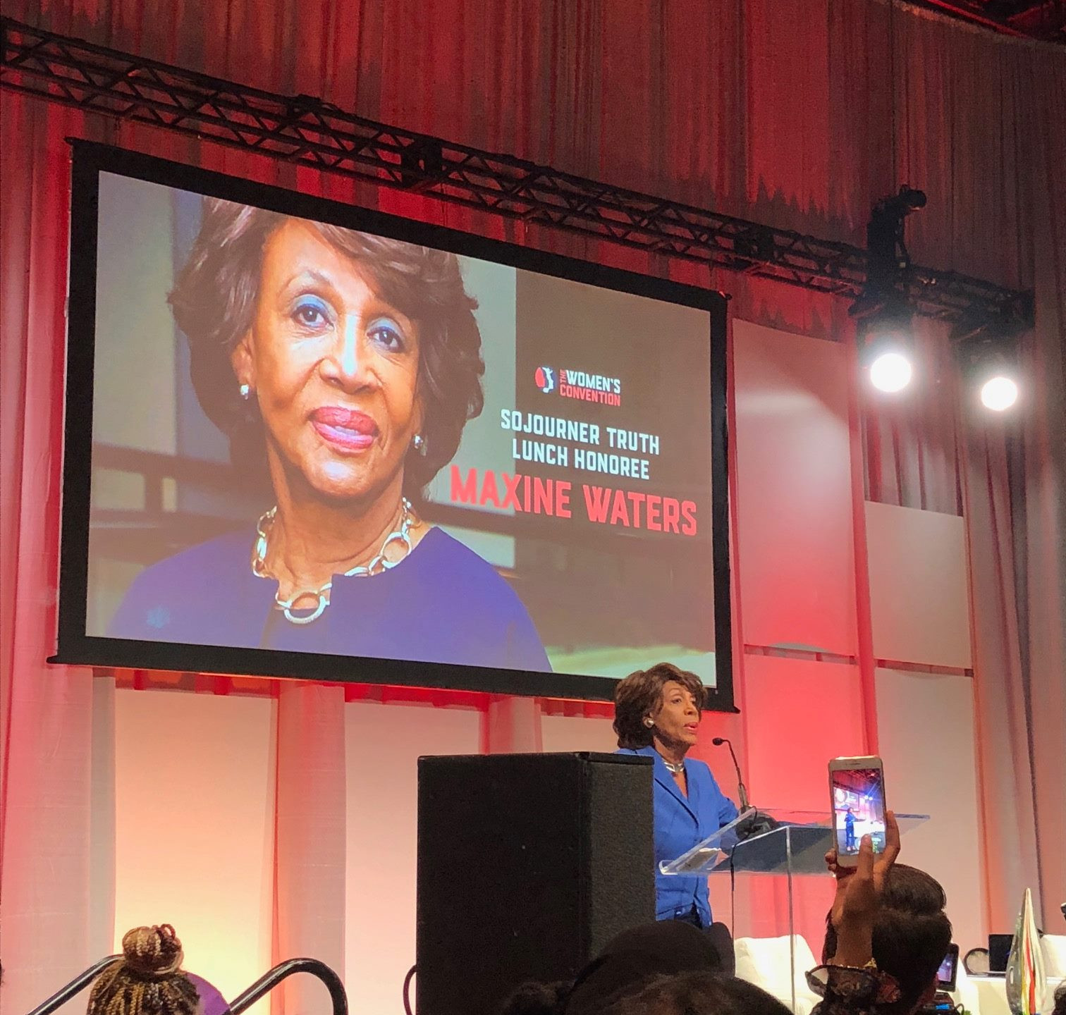 Congresswoman Maxine Waters headlined the Women's Convention and did not disappoint with her fiery speech.