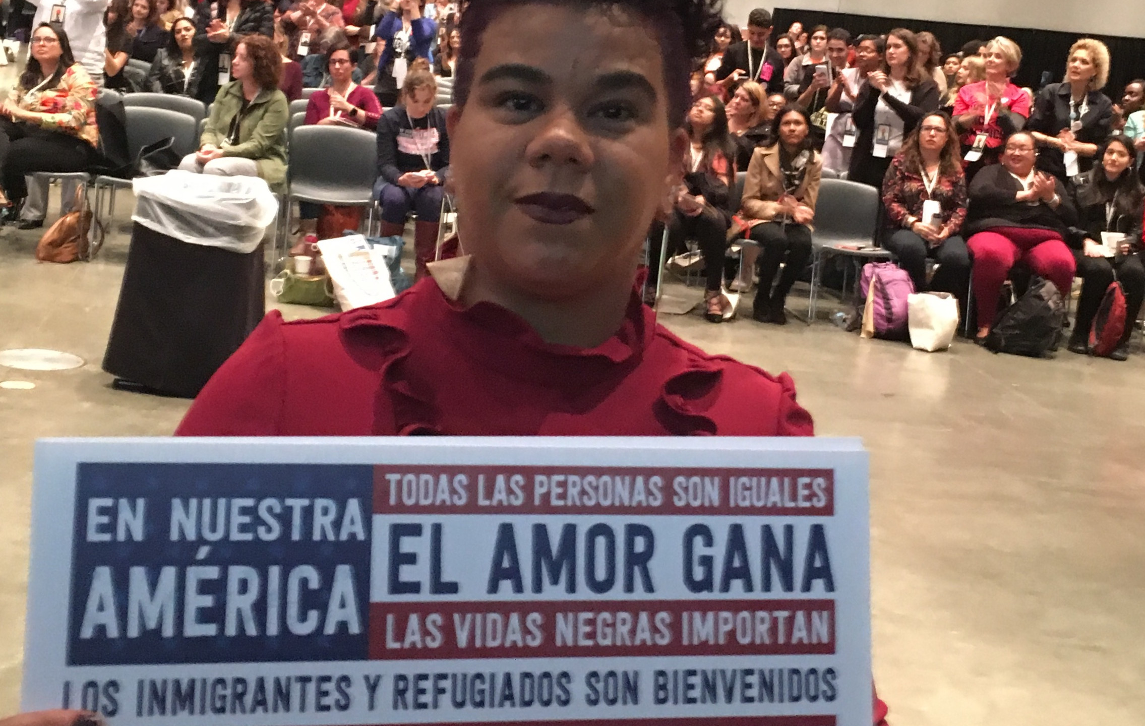 Rose Clemente spoke passionately on opening night about the plight of Puerto Rico.