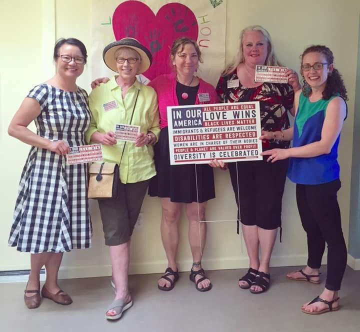 Nasty Women Molly Lee, Marcia Alvar, Ali King and Kirsten Hunter met with Amanda Ives (Raphael House Development Manager) to present our latest donation