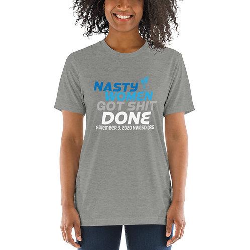 Nasty Women Got Shit Done Blues Unisex Short sleeve t-shirt