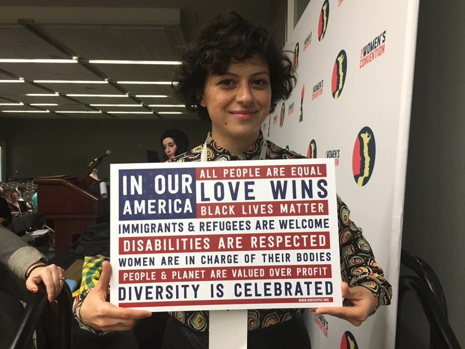 Actress Alia Shawkat was warm and genuine at the Women in Film breakout session.