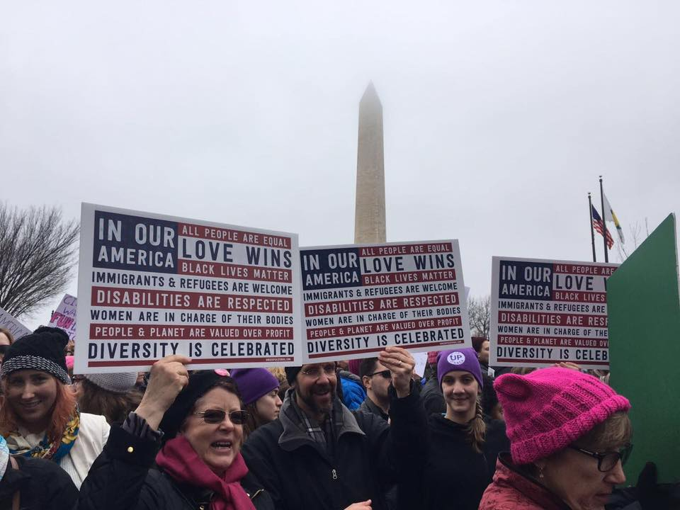 At the Women's March in Washington D.C.