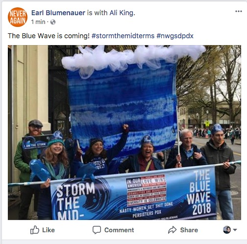 Rep Earl Blumenauer featured this photo on social media