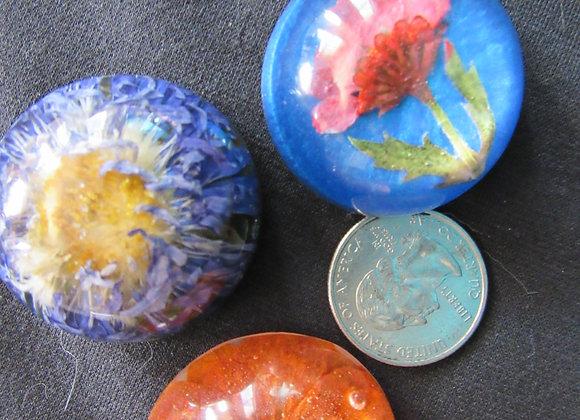 Large Flower Magnets- Set of 3
