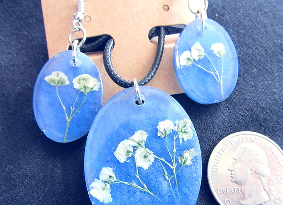 Blue and White Baby's Breath Set