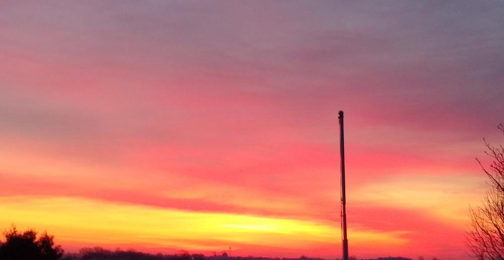 Sunset in Monticello