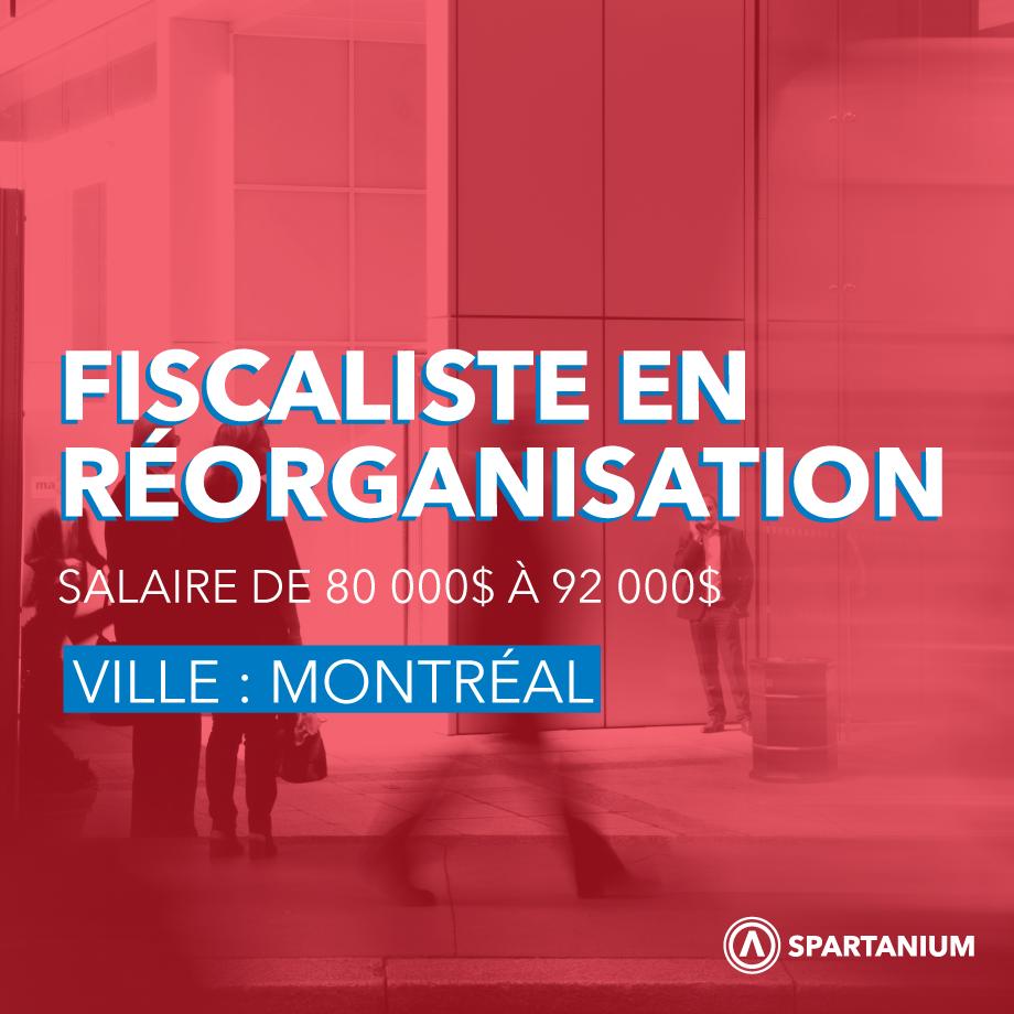 Fiscaliste en réorganisation