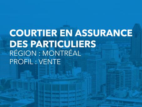 Courtier en assurance de dommages (À Montréal)