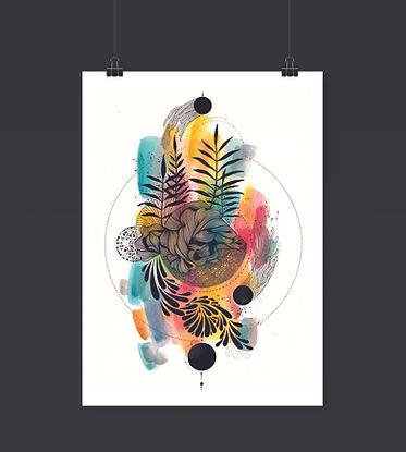 Dibujo abstracto I