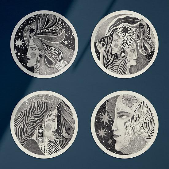 Mujeres I, II, III & IV