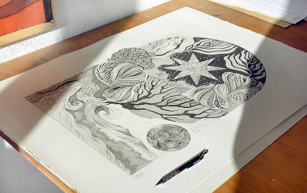 Dibujo grafito papel