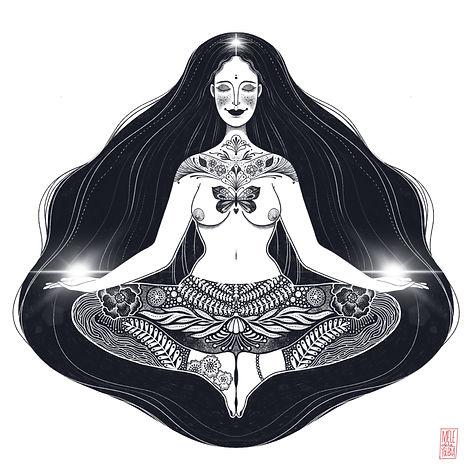 Ilustracion digital - Mujer paz