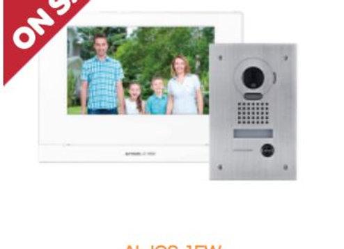 "AI-JOS-1FW Aiphone JO 7"" Video Intercom Kit, WiFi, Vandal Door Station, Flush Mo"