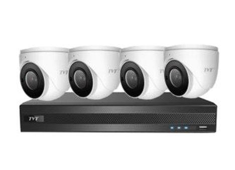 TVT 8CH 6MP PoE NVR+2TB + 4x 5MP S3A Mini Eyeball Kit