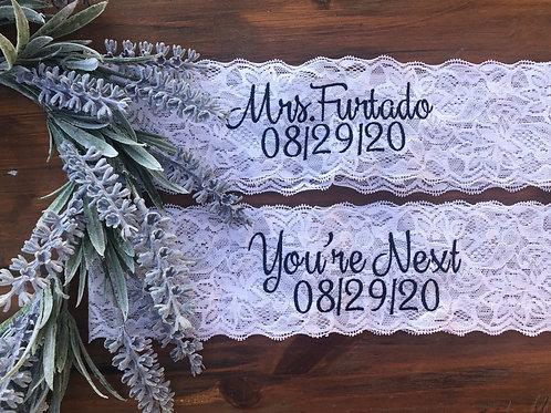 Wedding Garter /Mrs._____With Date/ Toss Garter