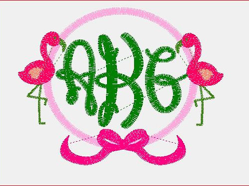 Flamingo Monogram Baby Rag
