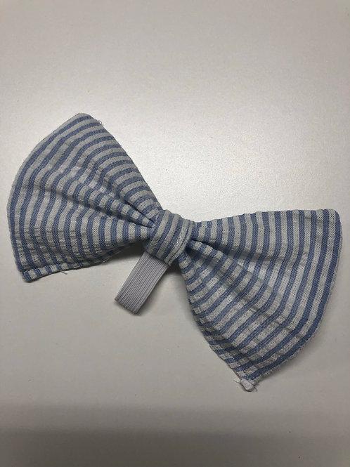 Seersucker Pup Bow Tie
