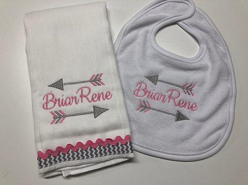 Briar Rene Bib/Rag Set