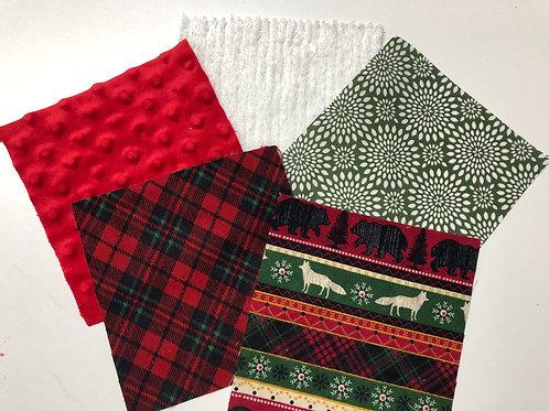 Red/Black Fox/Bear Plaid Play Quilt